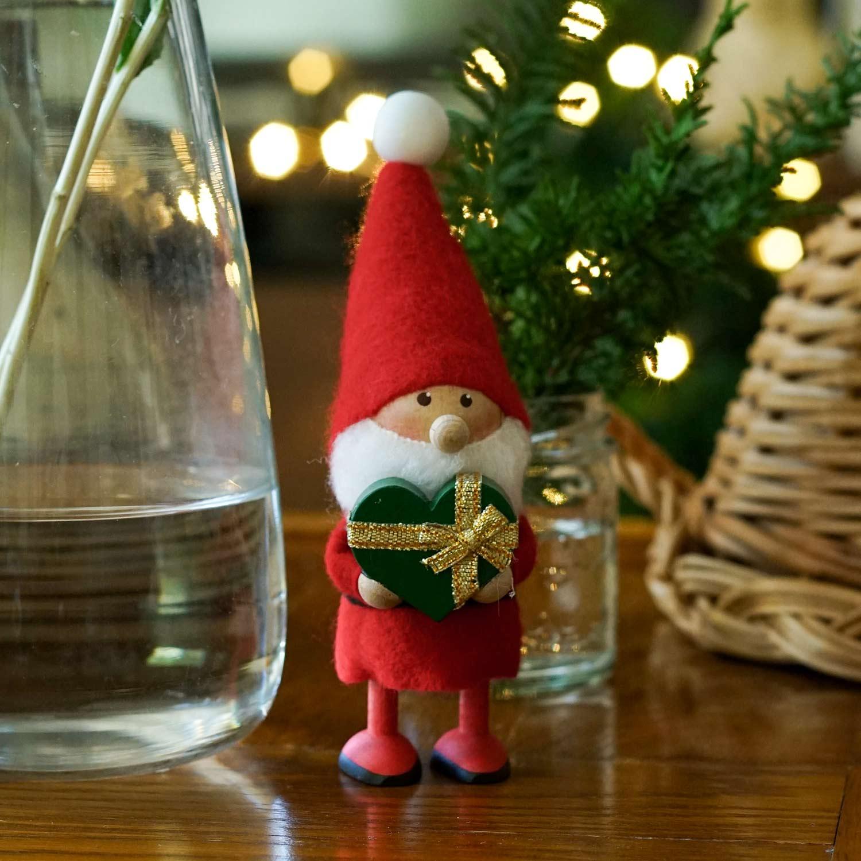ノルディカ デザイン 2021 サンタ クリスマス 北欧 ニッセ <セール&特集> hd3660 ハートフルサンタ 2021年新作 nisse 10月下旬入荷予定 人形 NORDIKA グリーン×ゴールド 祝日