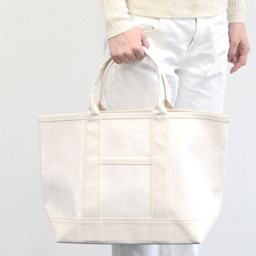 手織り麻と帆布のトート 中川政七商店