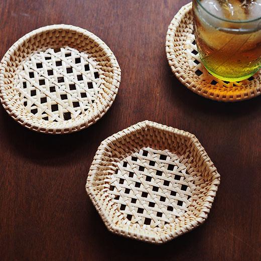 コースター アウトレット☆送料無料 茶たく 竹 セールSALE%OFF ラタン 籐茶托 hd3252 松野屋