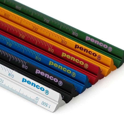 PENCO ペンコ 製図用の定規 三角スケール 普段使い デザイン おしゃれ 定規 fk016 時間指定不可 penco かわいい 携帯 ドラフティングスケール 15cm サービス コンパクト ポケット ケース入り 製図 ものさし アルミ