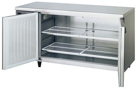 【新品・送料無料・代引不可】ホシザキ業務用ワイドスルーコールドテーブル冷蔵庫RT-150SNF-ML(旧RT-150SNE-ML) [幅1500×奥行600×高さ800]
