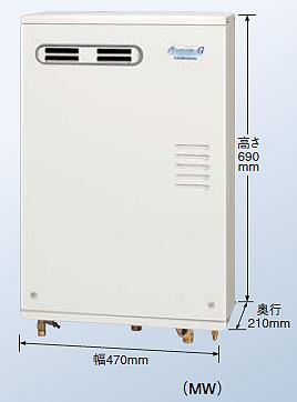 【新品・送料無料・代引不可】コロナ 石油給湯器 フルオート(給湯+追いだき)UKB-AG470FXP(MW)