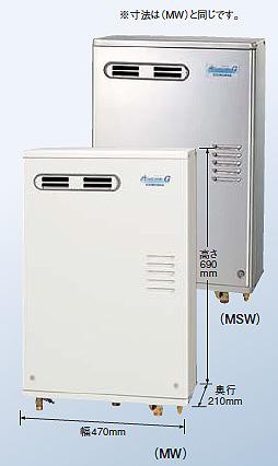 【新品・送料無料・代引不可】コロナ 石油給湯器 給湯+追いだきUKB-AG470XP(MW)