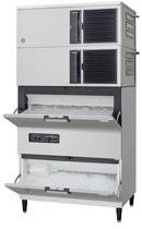 【新品・送料無料・代引不可】ホシザキ キューブアイスメーカースタックオンタイプ(セル方式) IM-460DM-STCR [W1080×D710×H2137mm]
