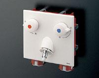 TOTO 「ピタットくん」壁埋め込みタイプ(樹脂配管用)緊急止水弁付2ハンドル洗濯機用混合水栓TWAS20A1A(旧TWAS20A1XA)