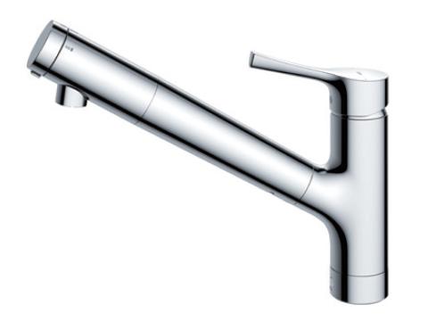 【送料無料】TOTO キッチン用エコシングル浄水器兼用混合水栓〈台付き1穴〉(吐水切り替えタイプ)TKS05307J