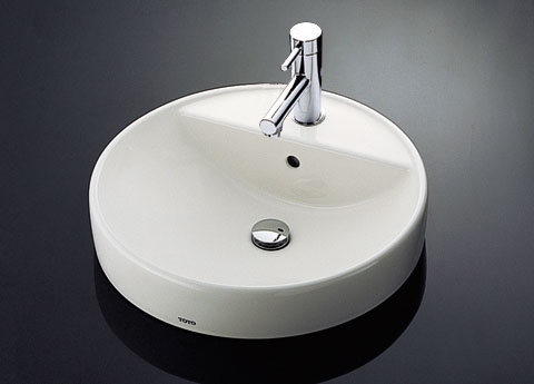 TOTO counter type wash basin with set L700C (floor drains set)