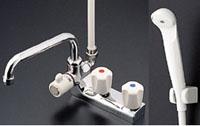 【送料無料】 TOTO 2ハンドルシャワー水栓TM116CR 水道 蛇口 お風呂 温度調節