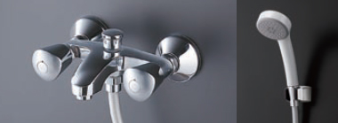 TOTO 2ハンドルシャワー水栓[ エアインシャワー・心々150mm固定 ]TMH20E3HR水道 蛇口 お風呂 温度調節
