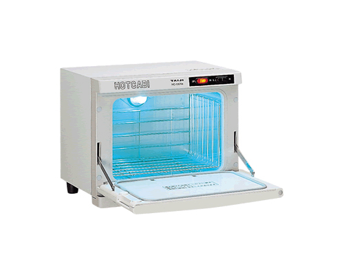 【新品・送料無料・代引不可】TAIJI タイジ(タオルウォーマー・タオル蒸し器)10L UV付(殺菌灯付)温度2段切替ホットキャビHC-10UVe