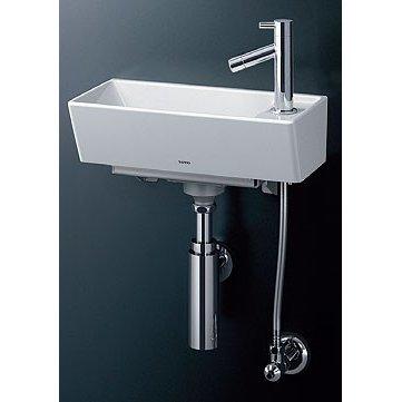 【送料無料】TOTO 壁掛手洗器(角形) 壁給水・壁排水(ボトルトラップ) LSH50AB