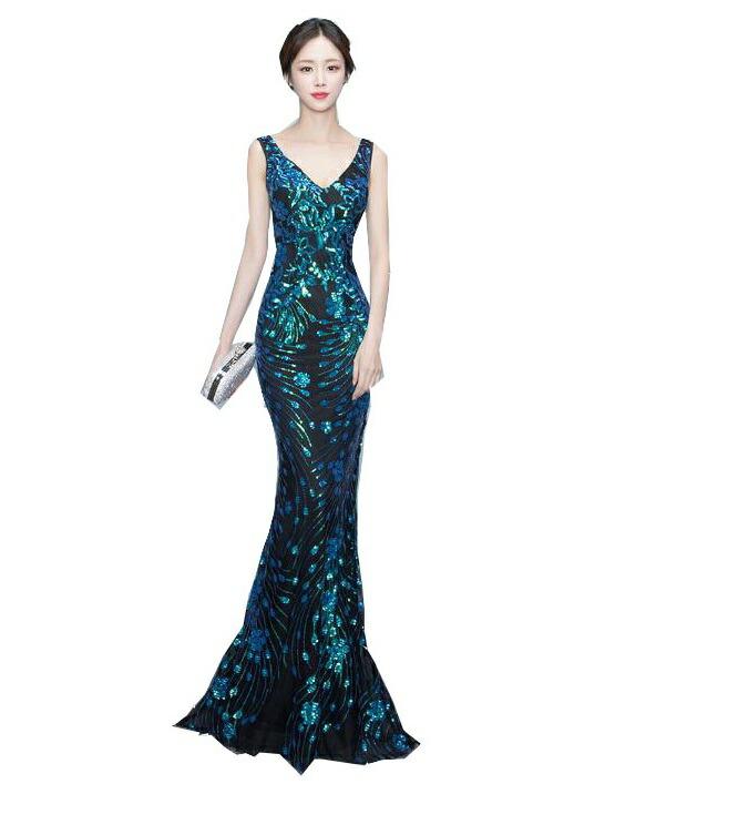 c9ca1433f157c マーメイドドレス ミセス スパンコールドレス 結婚式 ブライダル ロングドレス コンサート 大きいサイズ カラードレス パーティー