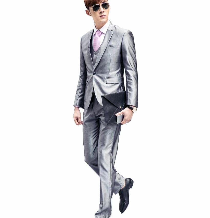 銀灰色 二次会 紳士用20代30代40代50代 3ピーススーツ メンズ 上下セットセットアップ 結婚式 二次会 花婿の介添え通勤 結婚式 花婿の介添え通勤 卒業式大きいサイズ4点セットジャケット+パンツ+ベスト+長袖シャツ(ホワイト)無地 大人気一つボタンスーツ/二つボタンスーツ, ナガトロマチ:f37fb486 --- sunward.msk.ru
