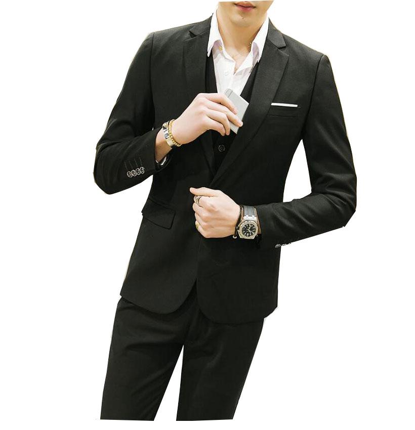 大きいサイズ 8色選択可! 紳士用20代30代40代50代 3ピーススーツ メンズ 上下セットセットアップ 二次会 花婿の介添え通勤 OL 結婚式 卒業式3点セットジャケット+パンツ+ベスト 無地 大人気一つボタンスーツ フォーマル パーティー