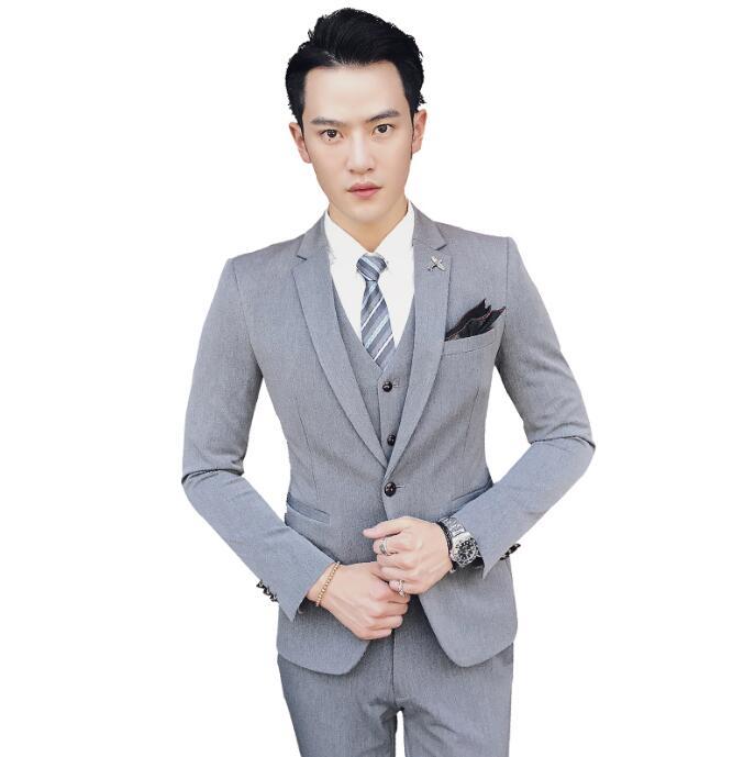 suit 3点セットスーツ フォマールメンズスーツビジネス通勤用 メンズファッション 細身 紳士スーツセット 大人気セットアップ スリムスーツ 紳士服 結婚式 二次会 パーティー 卒業式 通勤 送料無料