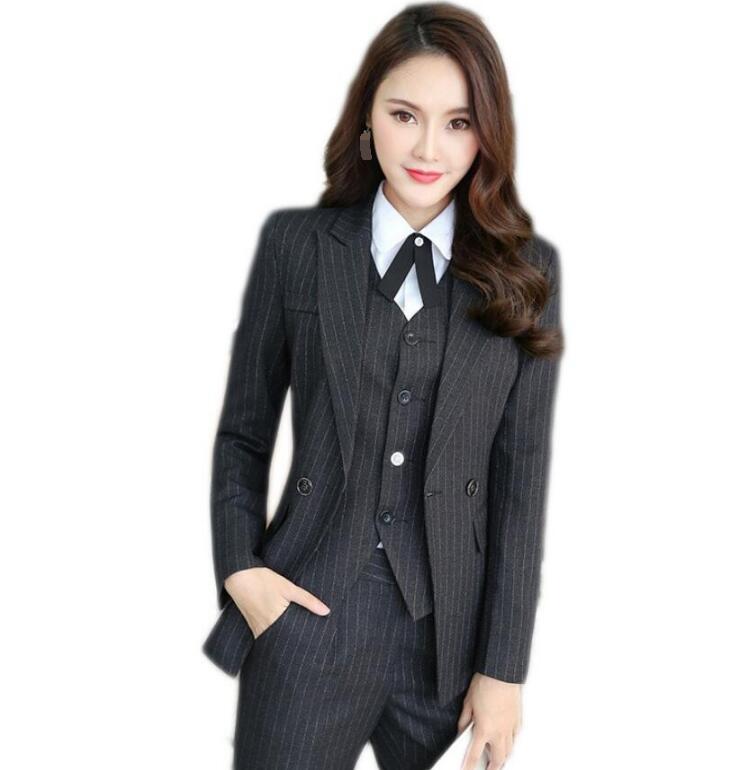 a02cde3c2c1f1 高品質レディース 4点セットスーツ ビジネススーツ 長袖ジャケット+ベスト+長袖シャツ