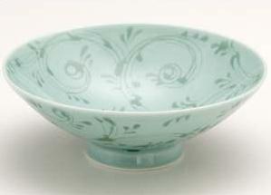 Hakusan porcelain flat Bowl D-19 Japanese unit Hasami seen baked rice bowl