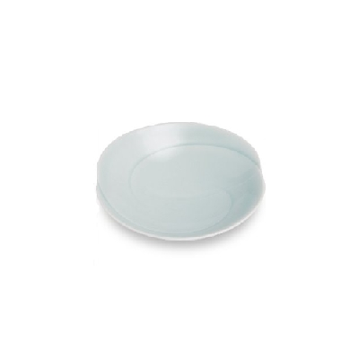 白山瓷白色运动蓝釉浅碗 (小) 10 厘米日本胡发现陶器瓷器小板厨房用具