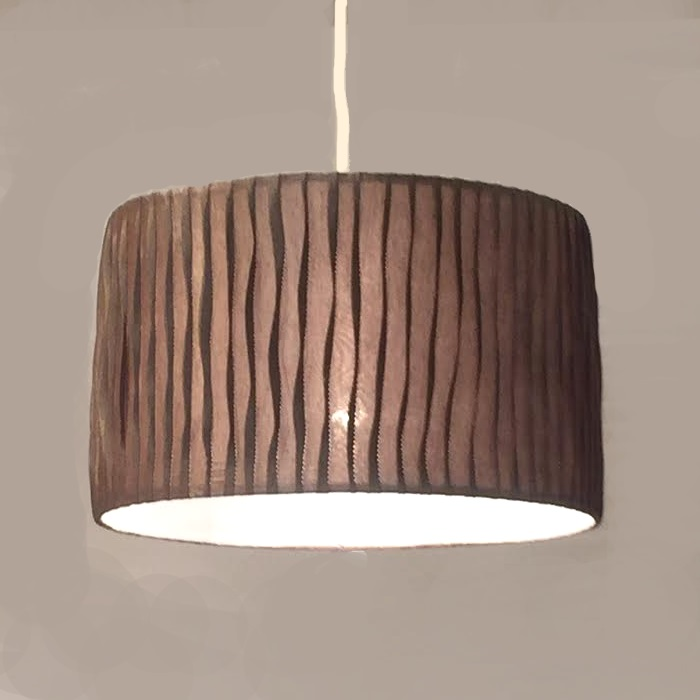 HUGオリジナル Silk Pendant Lamp(シルクペンダントランプ) Low type L ブラウン 洋風ペンダントライト6畳用