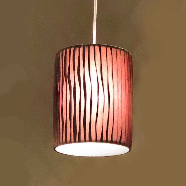 HUGオリジナル Silk Pendant Lamp(シルクペンダントランプ) High type S ブラウン 洋風ペンダントライト6畳用