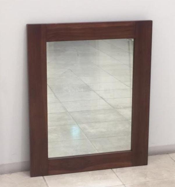 HUGオリジナル Wood flame Mirror M インテリア・寝具・収納 鏡 鏡 壁掛け 角型