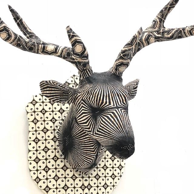ディアヘッド ディアヘッド Deer Head mini ホワイト・ブラック Head 剥製 アニマルヘッド 鹿 壁掛け トナカイ オブジェ アート 置物 その他 壁掛け, ニッチエクスプレス:5aa081d1 --- sunward.msk.ru