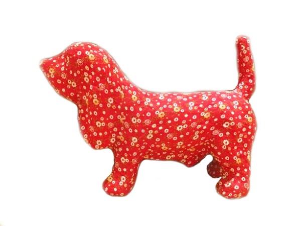 BALI Dog バリドッグ レッド/花柄 インテリア・寝具・収納 インテリア小物・置物・動物