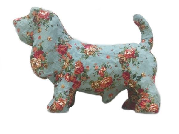 BALI Dog バリドッグ ブルー/花柄 インテリア・寝具・収納 インテリア小物・置物・動物