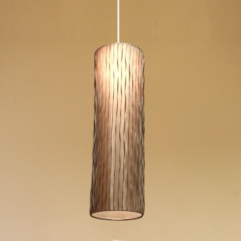 HUGオリジナル Silk Pendant Lamp(シルクペンダントランプ) High type L ブラウン 洋風ペンダントライト6畳用