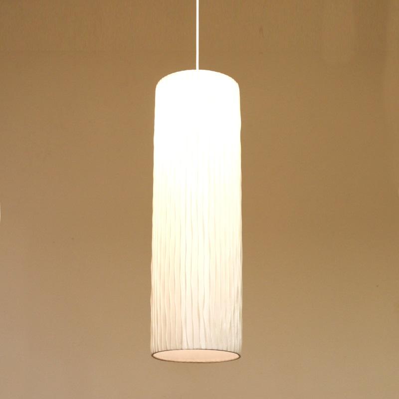 HUGオリジナル Silk Pendant Lamp(シルクペンダントランプ) High type L ホワイト 洋風ペンダントライト6畳用