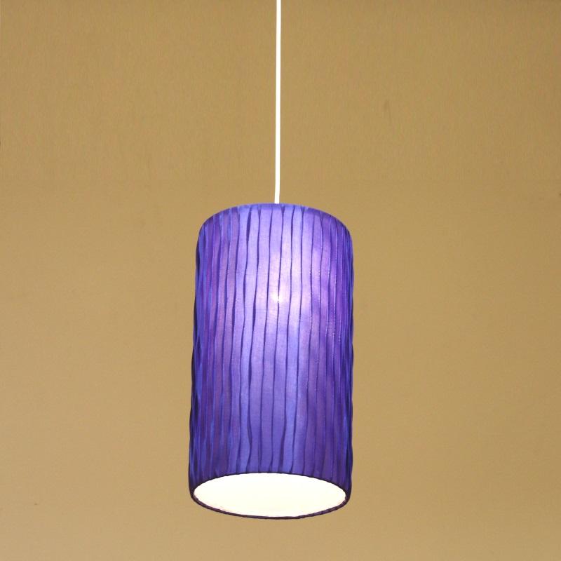 HUGオリジナル Silk Pendant Lamp(シルクペンダントランプ) High type M ブルー 洋風ペンダントライト6畳用