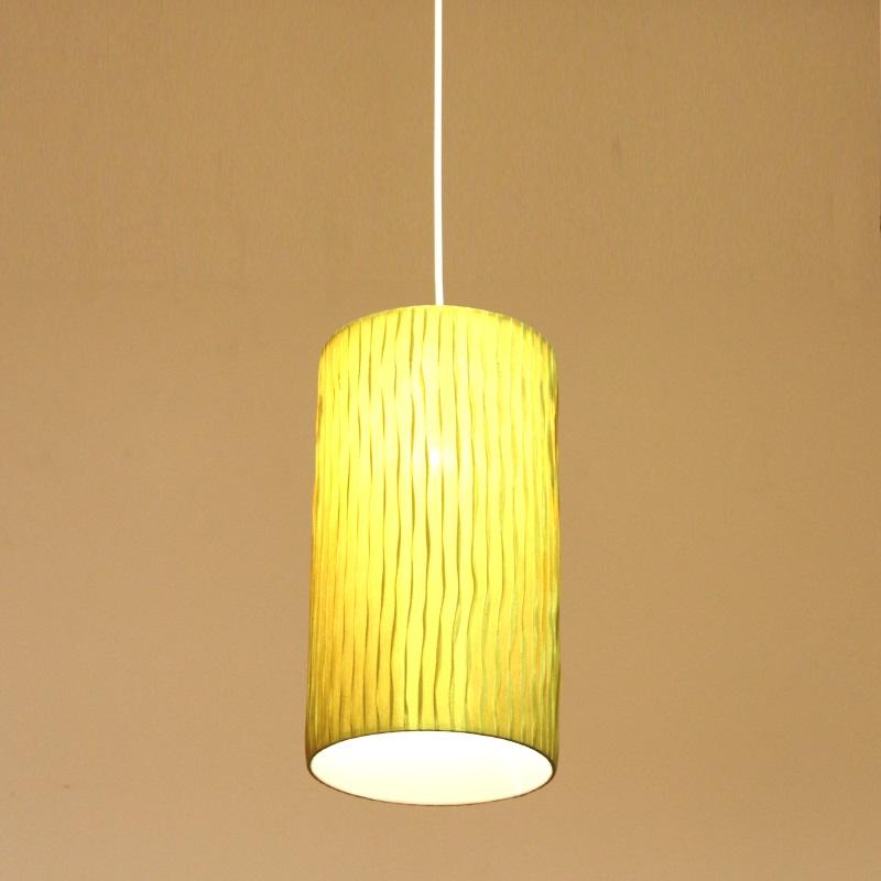 HUGオリジナル Silk Pendant Lamp(シルクペンダントランプ) High type M グリーン 洋風ペンダントライト6畳用
