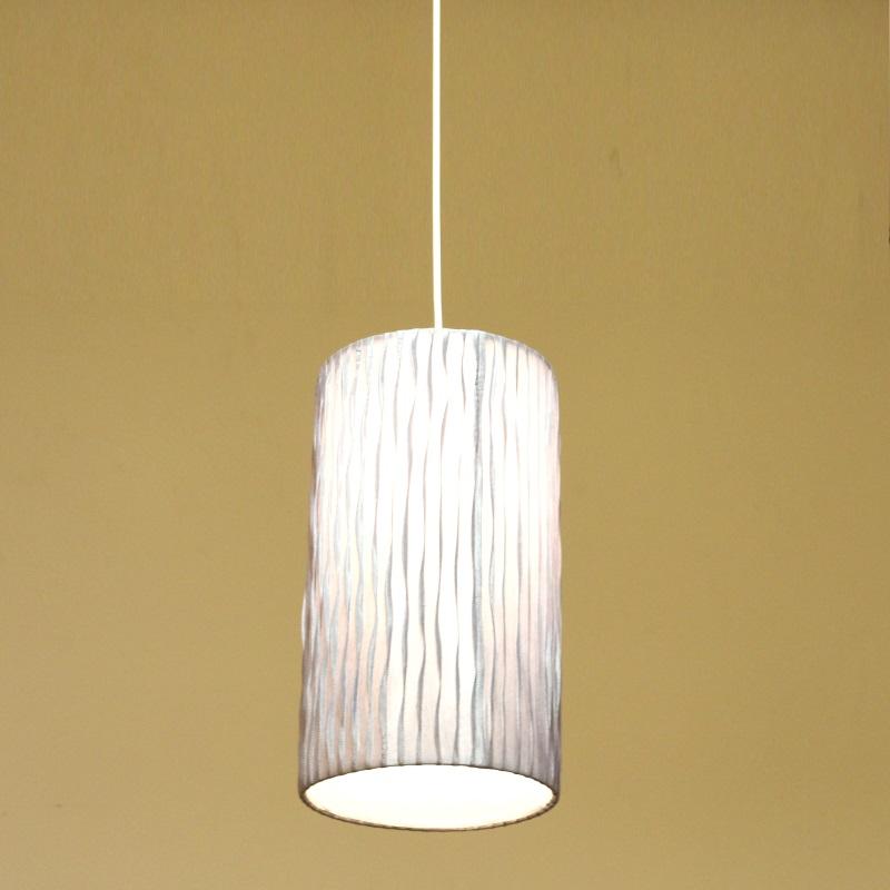 HUGオリジナル Silk Pendant Lamp(シルクペンダントランプ) High type M グレー 洋風ペンダントライト6畳用