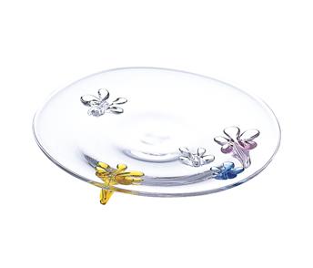 スガハラガラス sugahara カメリア28cm マルチカラー 洋食器 デザートプレート ガラス