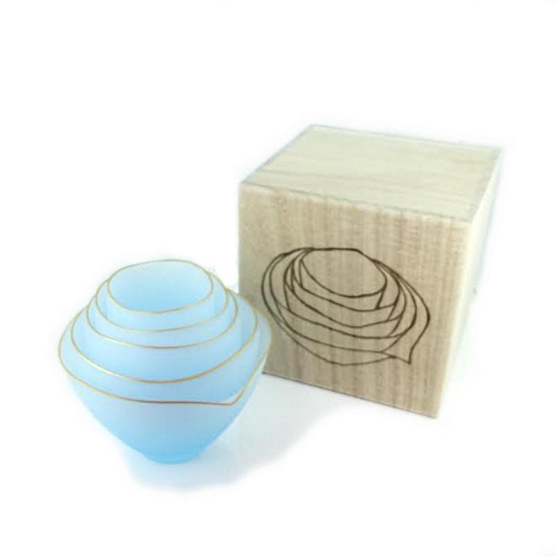 スガハラガラス sugahara サキ 猪口・小鉢・片口5個セット ブルーフロスト ボウルセット ぐい呑み ガラス