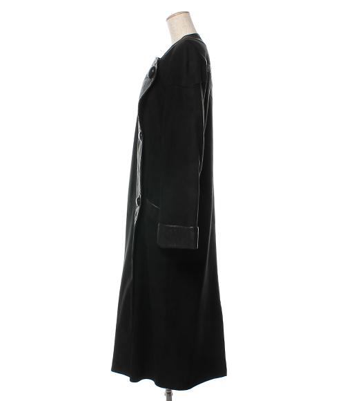 jutta covian SIZE 40 (M) suede long coat Lady's