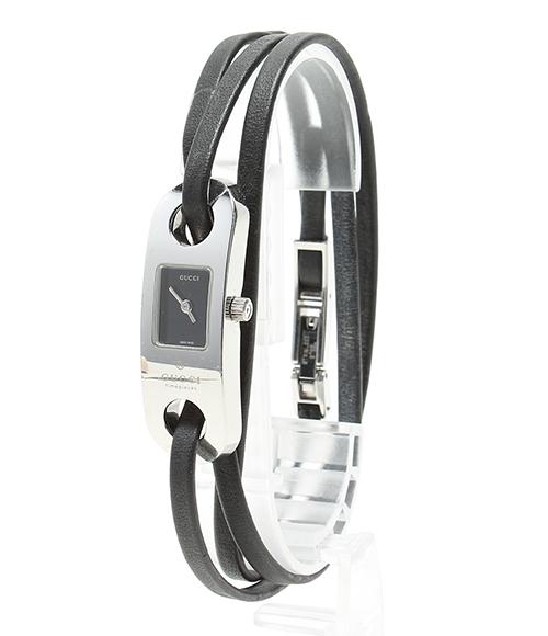 gucci 6100l. gucci 6,100l leather breath watch quartz gucci lady\u0027s 6100l