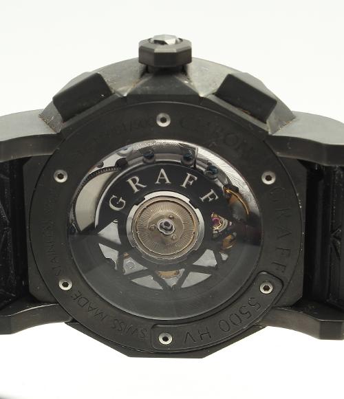 图表计时仪5500HV no80/500自动卷橡胶皮带手表GRAFF人