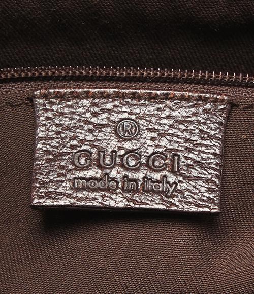 古驰GG花纹帆布大手提包140274浅驼色GUCCI女士