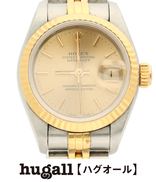 ロレックスオイスターパーペチュアル self-winding watch 69175 date just combination watch ROLEX Lady's