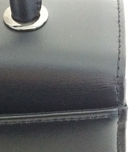 Ginza Yoshinoya leather four circle handbag Ginza Yoshinoya Lady's