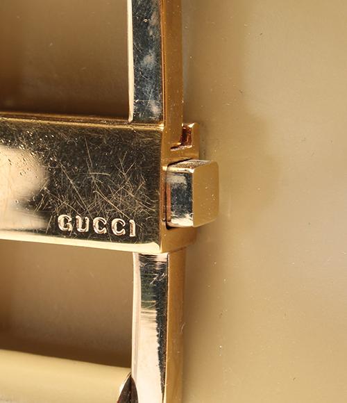 古驰皮革挎包G金属零件001.4150.002058 GUCCI女士