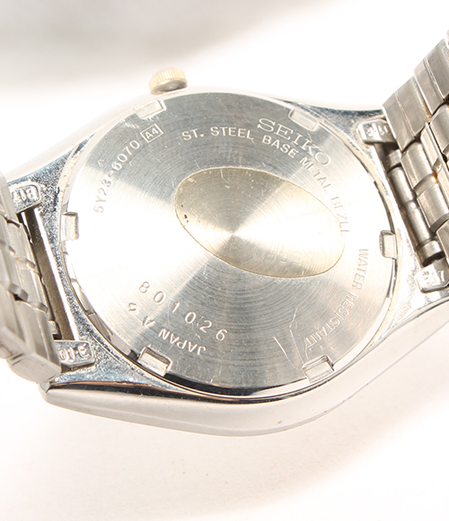 SEIKO 5Y23-6070 combination SS D date quartz watch SEIKO men
