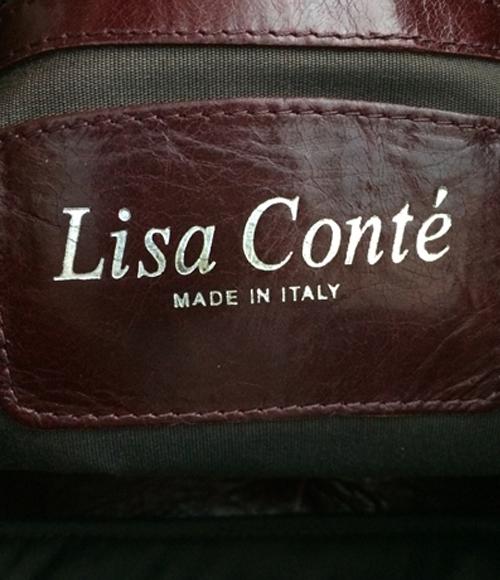 丽莎孔蒂皮革大手提包Lisa Conte女士[B5/A4/B4]