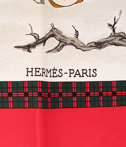 Mail coach HERMES Lady's of the Hermes boyfriend 90 silk scarf lhiver en Poste winter