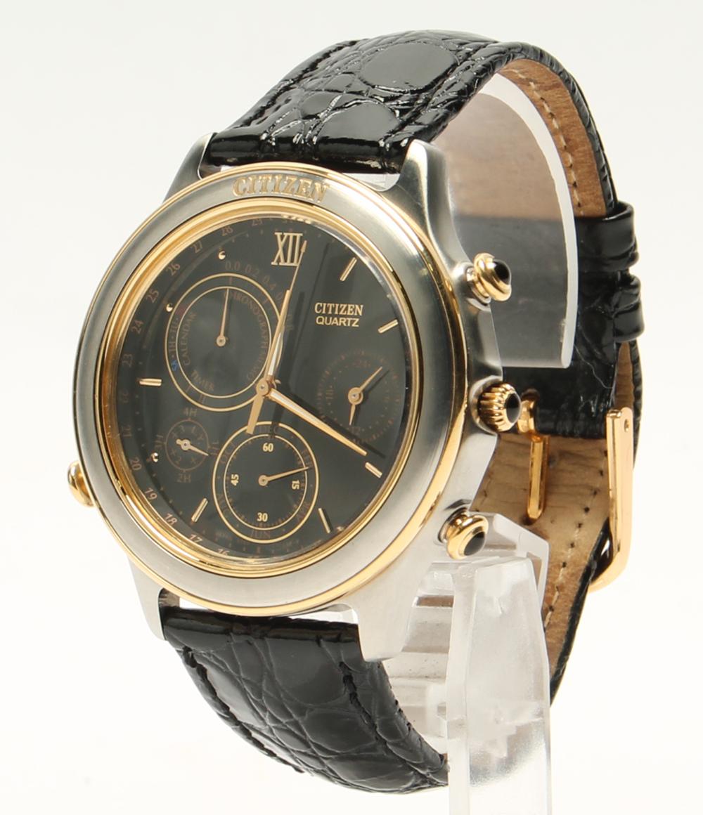 居民6750-G70242计时仪石英黑色表盘手表人