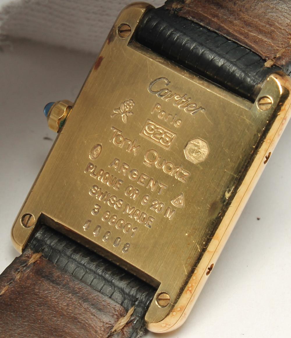 卡地亚坦克必须 3 66001 925 石英手表卡地亚女士 0824年乐天卡拆分
