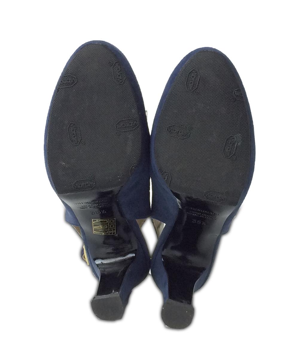 布鲁诺玛丽SIZE约22.5cm(S)前后卫陷井女用浅口无扣无带皮鞋口水巾羊羔鞋底BRUNO MAGLI女士