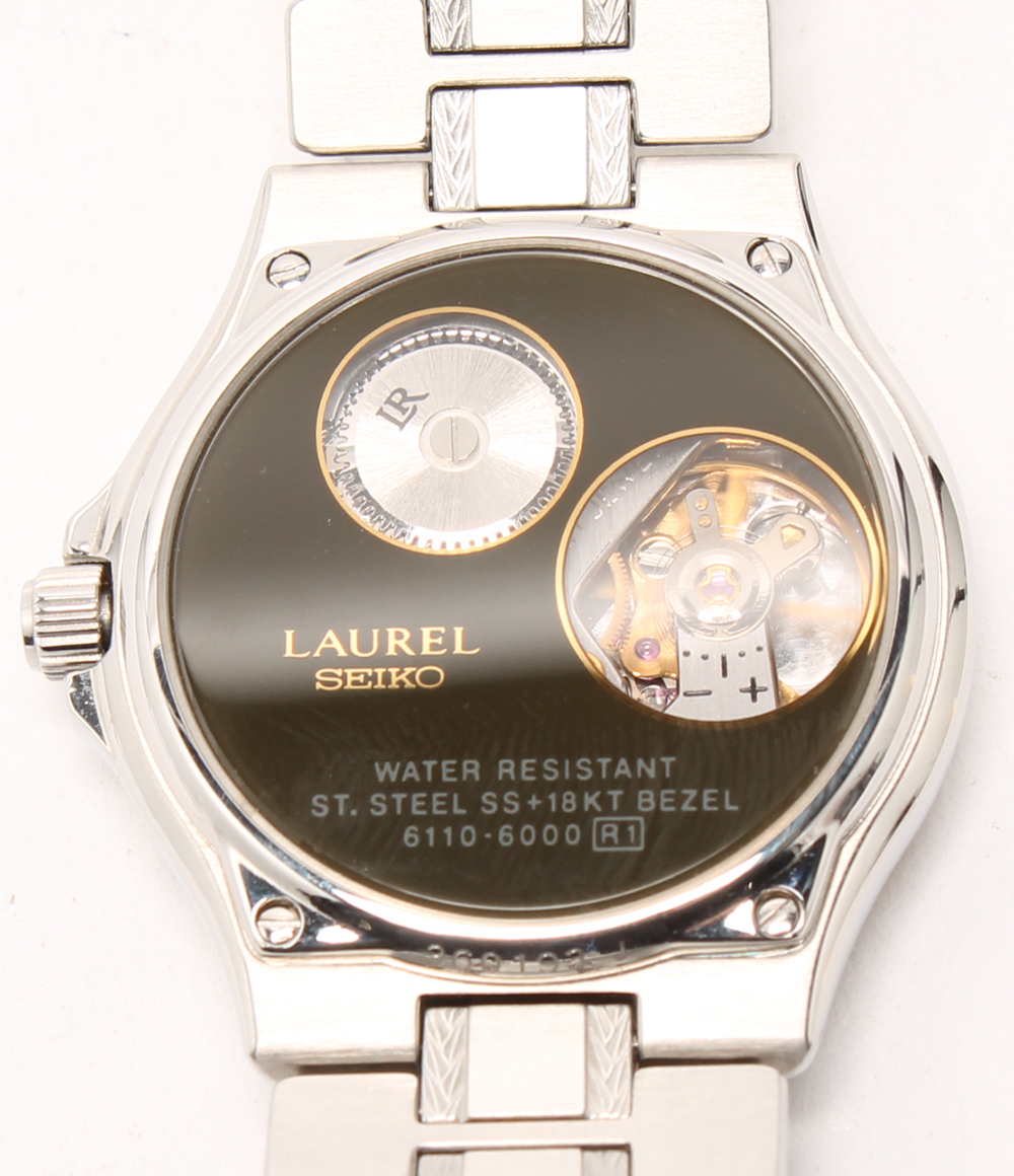 SEIKO laurel 6110-6000 self-winding watch SS 18KT watch gold SEIKO men