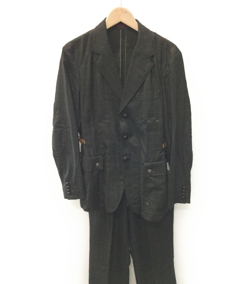 ポールスミス SIZE M (M) 訳あり チェック柄、ブラウン系 スーツ PAUL SMITH メンズ【中古】